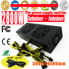 Buy High 2800W Mining Power Supply Eth ZEC Rig Bitcoin Miner Antminer S7 S9 L3+ D3 Mining Platinum Power Supply for $260.00 in AliExpress store