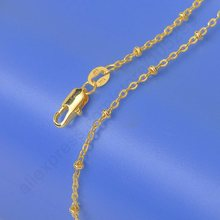 PATICO Newest New Good Grade Yellow Gold Filled Chains Necklace 5PCS Lot  GF Stamped For Pendant Chain With Lobster Clasps 18""
