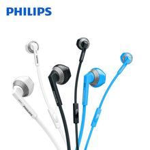 Philips SHE3205 Wired Headset with Microphone 3.5mm Plug Support Computer Ipad MP4 Smartphone for Galaxy 8 Xiaomi Official Test(China)