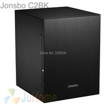 Jonsbo C2 Black C2BK, HTPC ITX Mini computer case in aluminum, support 3.5'' HDD, USB3.0, Home theater computer, Others C3 V4(China)
