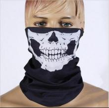 For CS or Halloween Skull Party masquerade mardi gras Masks Black Motorcycle Multi Function Headwear Neck Scary Sport