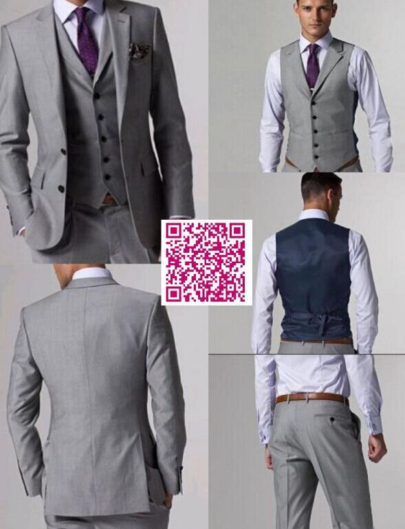 Best New Design Luxury Men's Suit Men business Dress wedding Suit 2 Buttons men's Texedos Best Man Suits(Jacket+Pants+Tie+Vest)