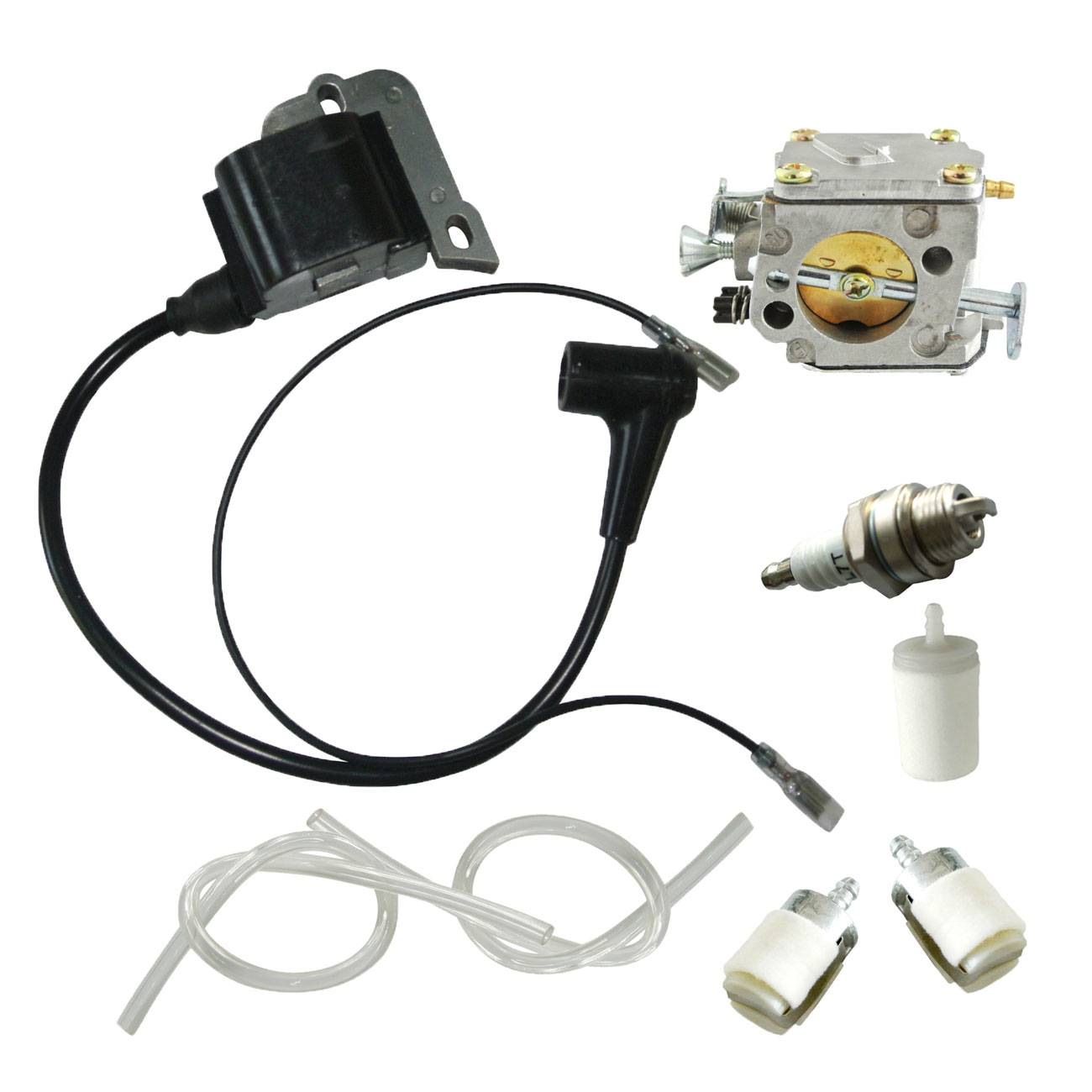 Ignition Coil with Carburetor For Husqvarna 50 51 55 254 257 261 262 XP 61 268 268XP 272 272XP<br>