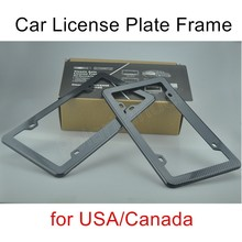2 pieces best price sale Front Rear plastic Look USA/Canada License Plate Frame Tag Cover Holder(China)