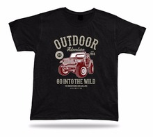 Hot Sale Brand New Fashion Summer Men Clothing Summer Tops TShirt Outdoors Adventure Got Into The Wild Vintage Design Tees Shirt(China)