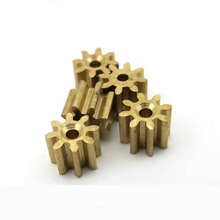 30pcs copper gear/8 teeth 1mm hole/remote control aircraft parts/HM spindle gear/toy accessories/Technology model parts/HTCL81A