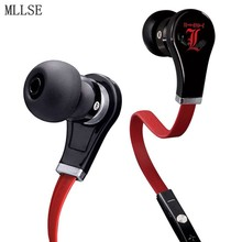 MLLSE Anime Death Note L Lawliet Cartoon In-ear Earphone Sports Wired AUX Stereo Earbuds Mic Headset for Phone MP3 PC Cosplay(China)