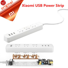 Original Xiaomi USB Power Socket  10A 250V 2500W Fast Charging Smart Power Strip Multi Functional 3 USB Extension Socket Plug