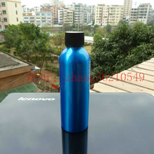 150ml aluminum blue bottle With black plastic cap,150ml cosmetic container used for essential oils,pharmaceutical raw materials(China)