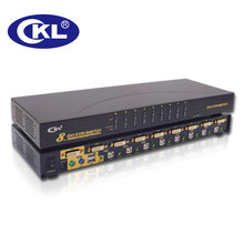 CKL 8 Port USB DVI KVM Switch with Audio and PS/2, PC Monitor Keyboard Hot-Key Mouse Switcher, Rackmount Metal (CKL-9138D)