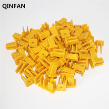 50Pcs Yellow Plastic Clips Fasteners Self-tapping screws taillight headlight lamp base locking clip snap liner Universal Cars(China)