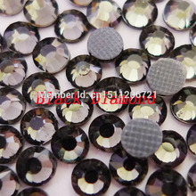 288 pcs SS6(1.9-2.0mm)  Black Diamond Flatback Hot-Fix Crytal DMC Rhinestone glue loose bead Bag shoe Clothing decoration