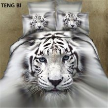 2017 latest design patterns 100% Cotton 3D Bedding Sets Queen Duvet Cover/ Flat Sheet/Pillowcases 4Pcs 3D Bedding-sets(China)