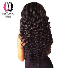 "Mstoxic Hair Peruvian Deep Wave 1 Bundle 100% Natural Human Hair Weave Non Remy Hair Weft Can Buy 3 or 4 bundles 8""-26""(China)"