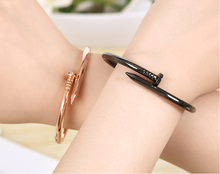 2017 New Couple Simple Fashion Jewelry  Rose Gold Titanium Steel Nail Bracelet Screw Bracelet