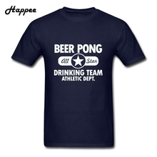 Top Designer Adult T Shirt Beer Pong  Drinking Team Tshirt Men Oversize 100% Cotton Short Sleeve Tee Shirt Tops Clothing