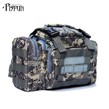 Buy Outdoor Lure Fishing bag 900D Oxford fishing tackle bag multifunctional Camouflage waist pack messenger bag fishing tackle for $21.98 in AliExpress store