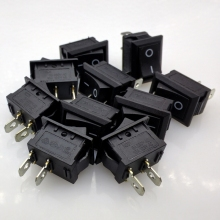 Free shipping KCD1-101 rocker switch boat switch rocker switch Power switch 6A/250V 10A/125V 10pcs/lot