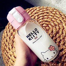 450 Hello Kitty Totoro PP Kid Bickiepegs Baby Cartoon Water Bottle Children Glass Bottle Children Kettle Sports Bottle