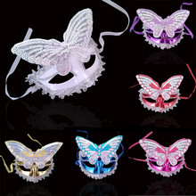 New 2017 Sexy Women Masquerade Lace Butterfly Mask Half Face Princess Masks For Adults Dance Party  Supplies  Halloween