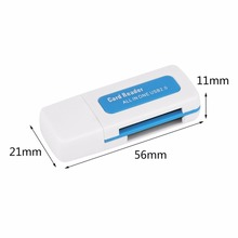 In stock! 1pcs USB 2.0 4 in 1 Memory Multi Card Reader for M2 SD SDHC DV Micro SD TF Card  Free / Drop Shipping