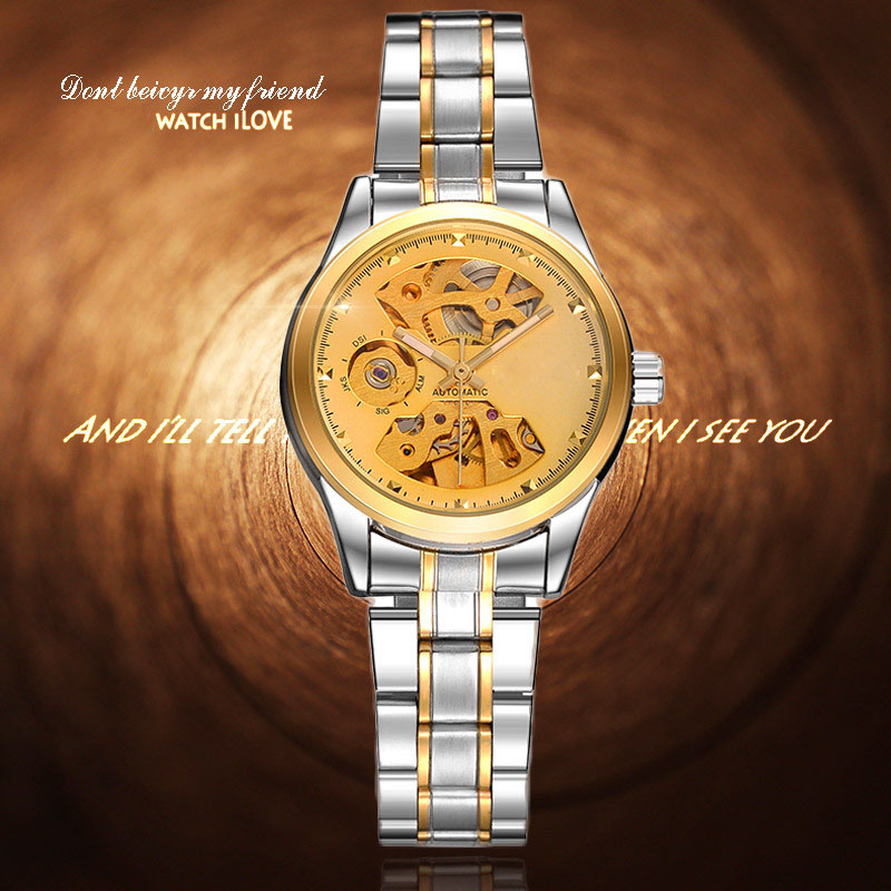 Women Watches Skeleton Mechanical Watch Stainless Band Ladies Simple Fashion Casual Clock Relogio Femininos Montre Femme<br><br>Aliexpress