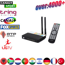 Best Albanian IPTV Box CSA93 2/16G 4k android TV +1 year Europe iptv account Arabic Indian Isreal Adult Server - Topsmart Store store