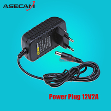 ASECAM AC 100V-240V Converter Adapter DC 12V 2A 2000mA Power Supply EU US UK AU Plug 5.5mm*2.1mm for CCTV IP Camera System