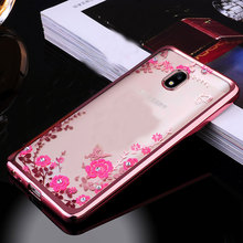 Buy Samsung J5 2017 Case Silicone Bling Diamond Clear Cover Soft TPU Flower Flora Cases Samsung Galaxy J5 2017 EU Version for $2.87 in AliExpress store