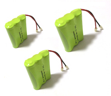 4 PCS/lot KX Original New Ni-MH AAA 3.6V 800mAh Ni MH Rechargeable Battery Pack With Plugs For Cordless Phone Free Shipping