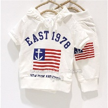 East 1978 Flag Casual Boy's Clothes Sets Tracksuits Hoodies sweatshirt Kids Sport Suits Outfits Short Pants White BABY CLOTHES