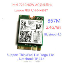Brand new for Intel 7260NGW 7260ac 7260 ac WIFI CARD 2.4/5G BT4.0 FRU 04X6087 For Thinkpad 11e Yoga 11e Notebook TP 11e