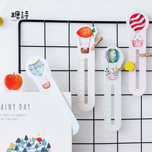 30 pcs/box Heteromorphism Hot air balloon paper bookmark stationery bookmarks book holder message card school supplies papelaria