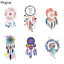 Prajna Dreamcatcher Iron on Transfers For Kids Clothes T Shirt Hot Thermal Vinyl Heat Transfer Stickers Applique Cartoon Patches(China)