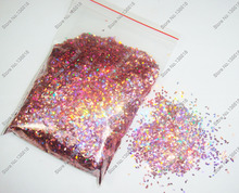 50gram-1mm Holographic Laser Rose Pink Glitter Diamond(rhombus) Paillette Spangle Shape for Nail Art Decoration&Glitter Craft