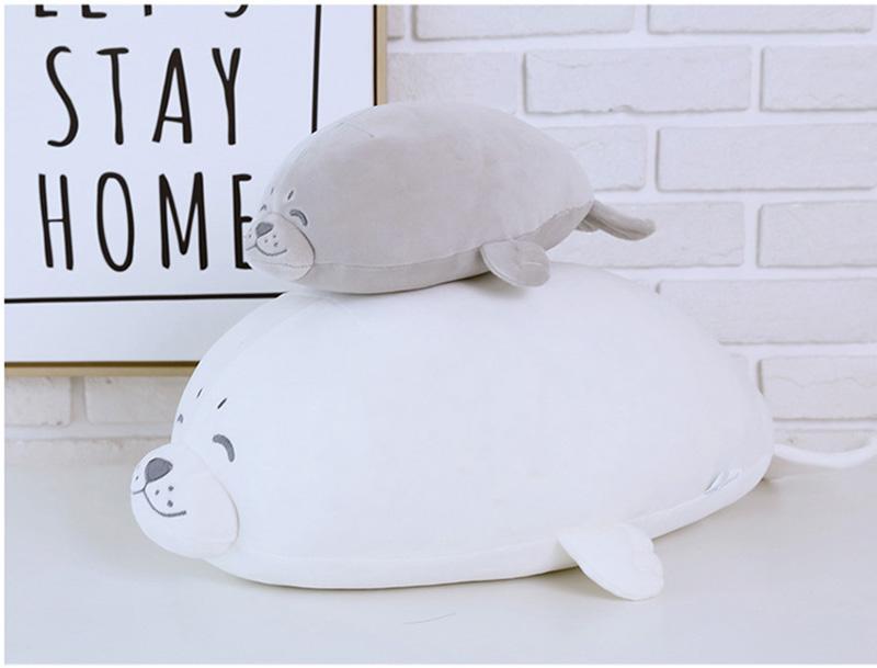 1pcs Cute Soft Animal Sea Lion Doll Baby Sleeping Pillow Marine Animals Seal Plush Toy Kids Stuffed Toys Gift (14)