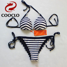 COOCLO 2016 Brazilian Sexy  Bikini  Swimsuit  string  Swimwear Set Top and Bottom,women  soft cup swimwuit