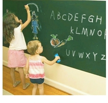 200cm*45cm Green Vinyl Chalkboard Wall Stickers Adhesive DIY Writing Board Poster Home School Classroom Office Store Items(China)
