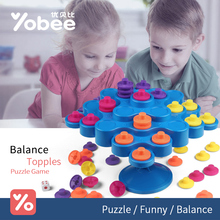 Balance Topple Broad Game Funny Multiplayer and Parent-Child Game Kids Children Great Family Activity Toys Don't Let Topple Game(China)