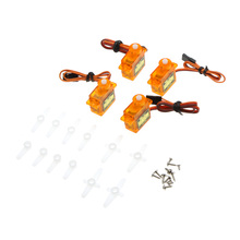 4 Pcs MR.RC SG90 High Precision Mini Gear Micro Servo 9g For RC Airplane 450 Helicopter Swashplate Servo(China)