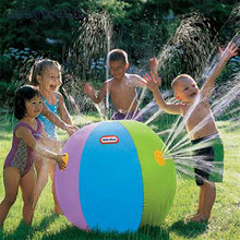 Abbyfrank 75 CM Inflatable Water Polo Swimming Pool Summer Beach Ball Environmental Protection PVC Water Spray Outdoor Toys(China)
