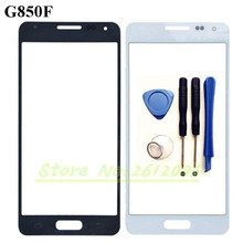 4.7'' G850 Touch Screen Panel Replacement For Samsung Galaxy Alpha G850F G8508 LCD Front Outer Glass Cover Lens With Logo+T
