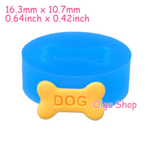 QYL170 16.3mm DOG Bone Silicone Mold - Cake Decorations, Polymer Clay Mould, Cabochon Candy, Food Safe, Resin, Chocolate Molds