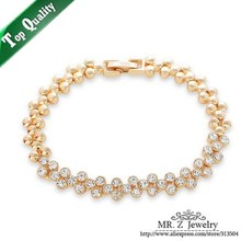 Good Quality Gifts Christmas Double Row CZ Rhinestone Brands Bracelets Fashion Free Shipping