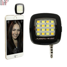 Mini 16 LED Spotlight Camera Smartphone Led Flash Fill Light for iPhone Android Devices for External Flash Fill Selfie Light