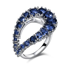 Nice Looking Women Cute Bohemia Rings Fashion Jewelry 5 Colors Cubic Zirconia White Color Lead free Brass Rings for Lady