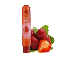 80ml - 2PCS- 2017 Free Shipping  Fruits Edible Flavoured Sex Lubricant Gel Water Based Soluble Silicone Oil