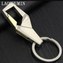 LAOSHUMIN Cool Design business men belt buckles keychains key ring accessories birthday gift for boyfriend car key holder SHJ196(China)