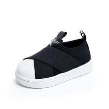 2017 New Autumn Spring Children Fashion Shoes Boys Girls Stretch Fabric Slip-on Sneakers Kids Casual Non-Slip Sport Shoes(China)