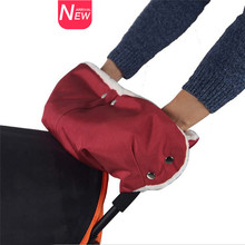 Waterproof Stroller Warmer Gloves Pushchair Hand Muff Pram Accessories Winter Baby Carriage Glove Buggy Clutch Cart Muff Glove(China)
